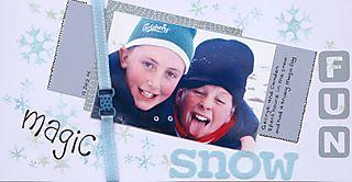 Magic snow fun
